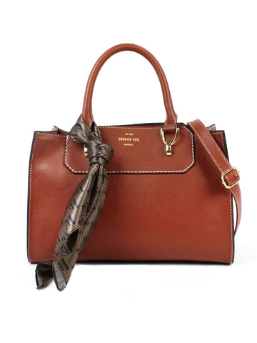 Belmont Satchel In Cognac