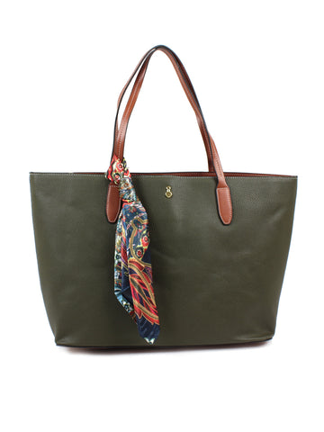 Stafford Tote with Scarf In Olive