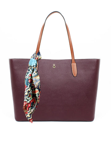 Stafford Tote with Scarf In Berry