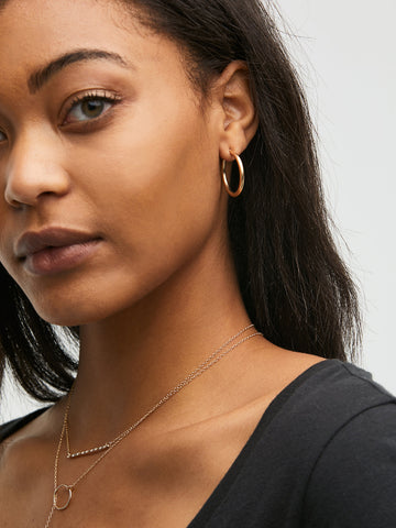 Legacy Hoop Earrings In Gold Tone