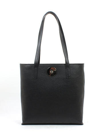 Luna Shopper In Black Pebble