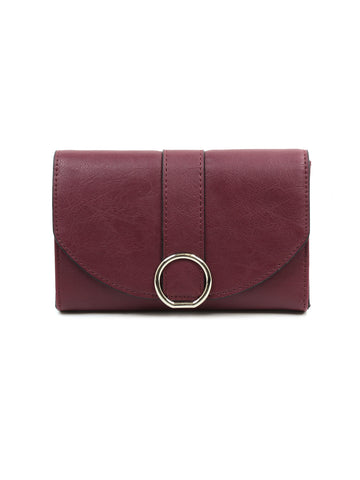 Ellie Cross Body Wallet In Cordovan