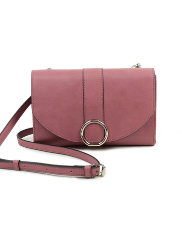 Ellie Crossbody Wallet In Dark Mauve