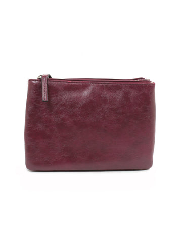 Grace Double Zip Crossbody In Cordovan