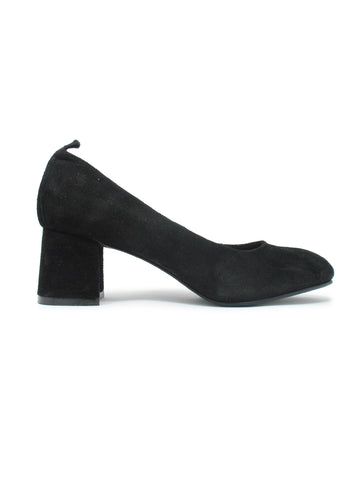 Miriam Suede Block Heel In Black