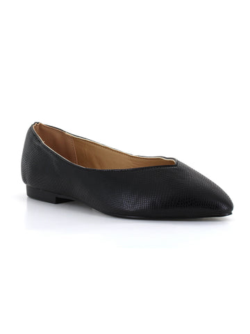 Nelly Snake Flat In Black