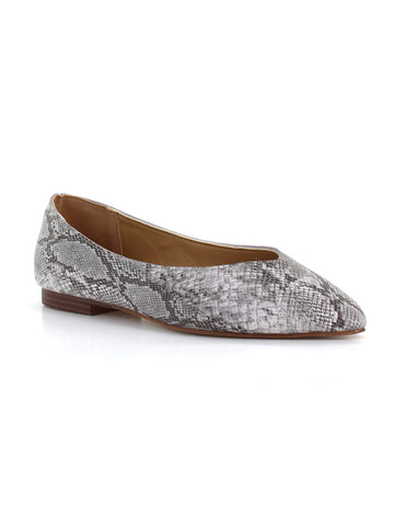 Nelly Snake Flat In Grey