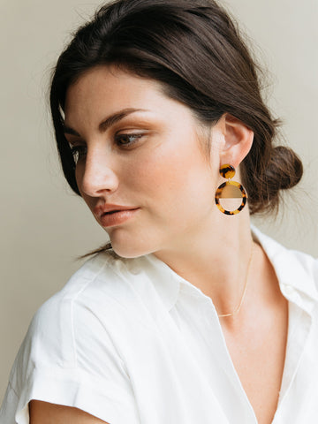 Nile Earrings In Auburn Tortoise