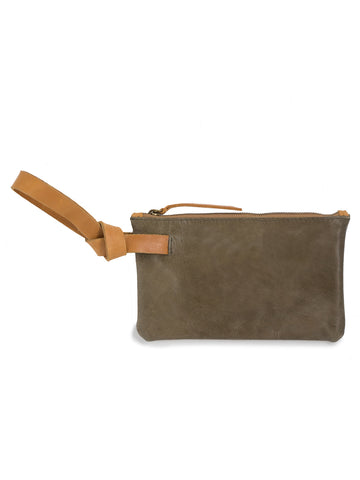 Rachel Wristlet In Olive And Cognac