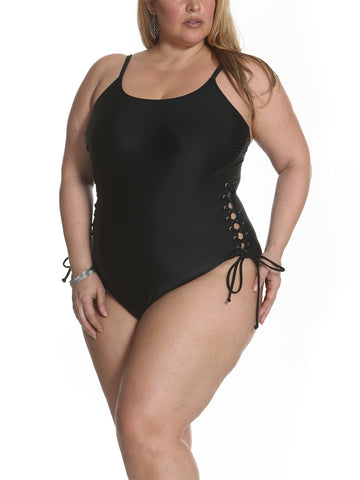 Solid As A Rock Side Grommet One Piece In Black