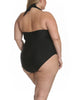 Solid As A Rock Front Zipper One Piece In Black