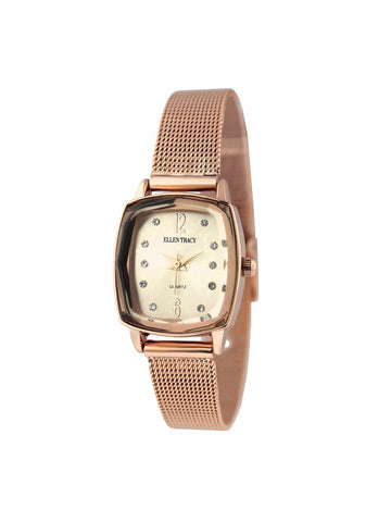 Rose Gold Tone Mini Mesh Watch