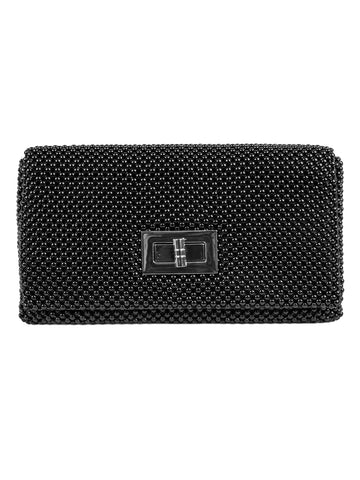 Ball Mesh Clutch In Black