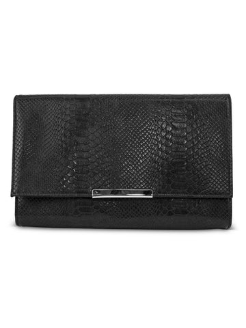 Nora Envelope Clutch In Black