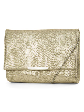 Nora Envelope Clutch In Gold