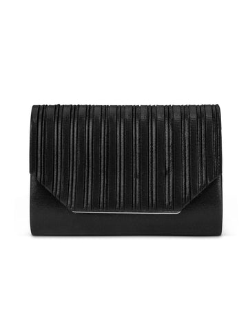 Alexis Lurex Clutch In Black