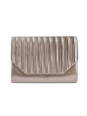 Alexis Lurex Clutch In Champagne