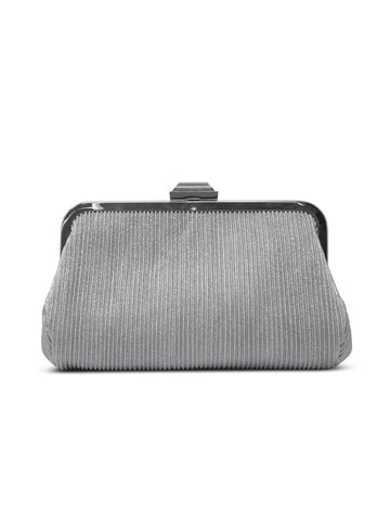Lena Lurex Clutch In Silver