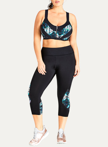 Three-Quarter Length Kaleidoscope Leggings