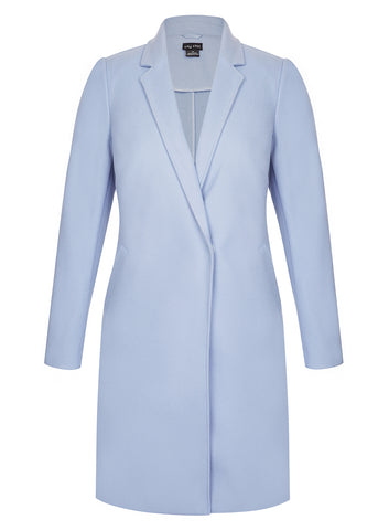 Well Tailored Coat In Powder Blue