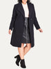 Simple Wrap Coat In French Navy