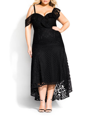 Femme Fatale Maxi Dress In Black
