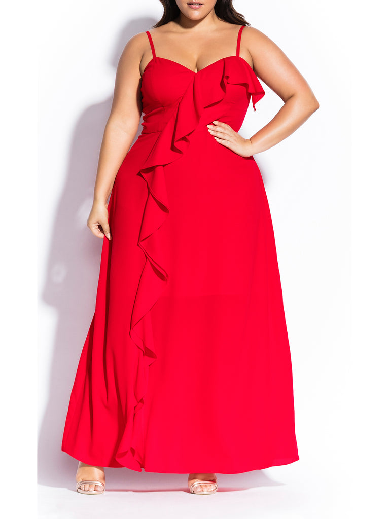 Catalina Maxi Dress In Red