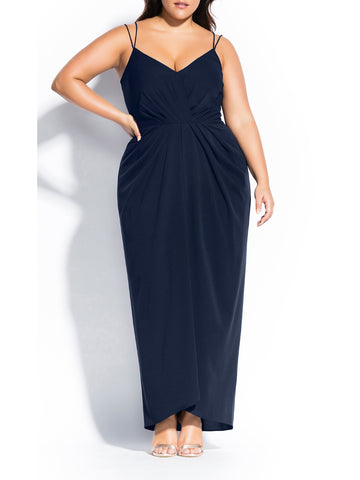 Luciana Maxi Dress In Navy