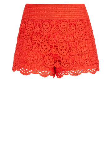 Layered Lace Shorts In Zing