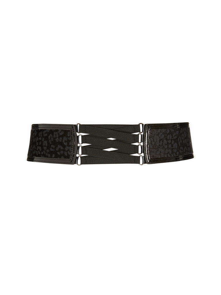 Leopard Lace Up Belt