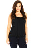 Bubble Hem Cami In Black