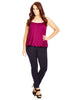 Coloured Bubble Hem Cami