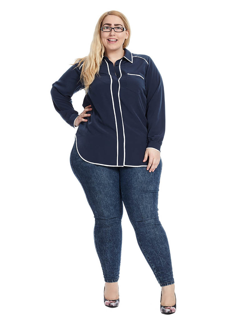 Pajama Blouse In Navy