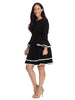 Bell Sleeve Ponte Fit And Flare Dress