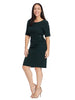 Sheath Dress with Side Buckle In Forest Green