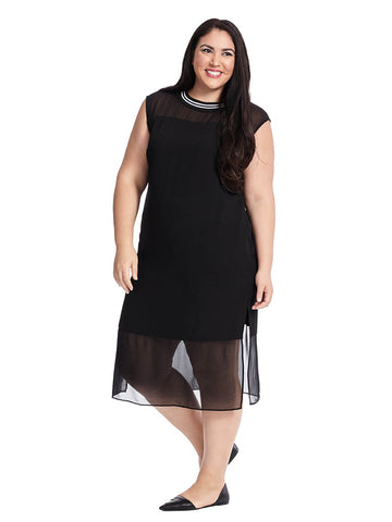 Rib Midi Shift Dress