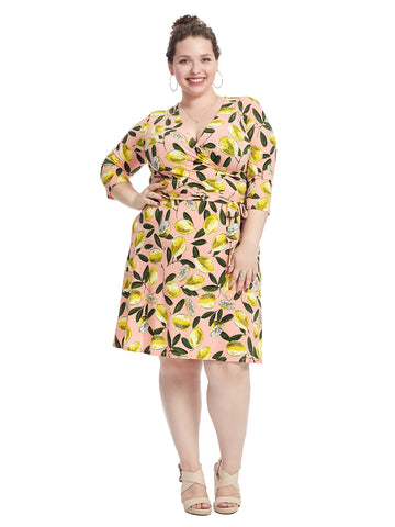 Limoncello Printed Perfect Wrap Dress