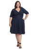 Navy And White Polka Dot Delores Dress