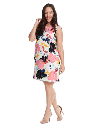 Livia Tank Dress In Bloom Print