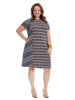 Twin Global Short Sleeve Shift Dress