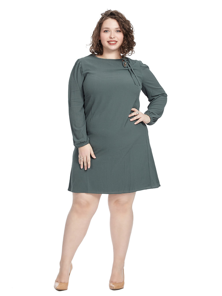 Sophia Dress In Green Briar