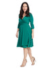 Say Yes To Timeless Wrap Dress In Clover