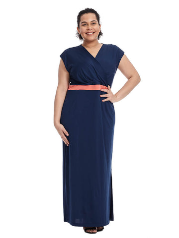 Aubrey Dress In Darkest Indigo