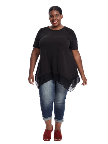 Sharkbite Hem Black Top