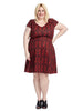 Victoria Dress In Crimson Brocade