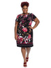 Floral Cap Sleeve Midi Sheath Dress