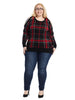 Tartan Cold Shoulder Sweater