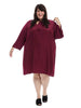 Olive Three-Quarter Sleeve Dress In Syrah