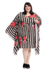 Floral Stripe Kaftan Dress