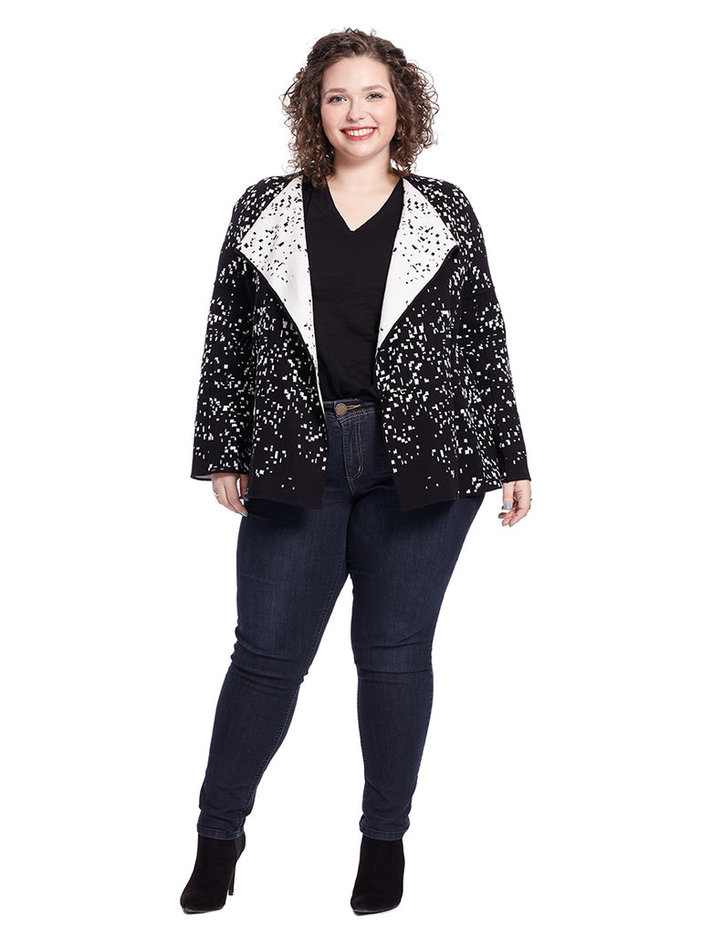 Abstract Pebble Sweater Jacket